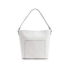 Borsa a secchiello bianca in eco-pelle, Borse, 133783136EPBIANUNI, 001 preview