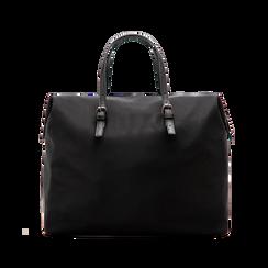 Borsa Maxi-Bag a mano nera in tessuto, Primadonna, 122300313TSNEROUNI, 002 preview