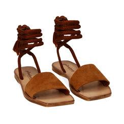 Sandales en daim cognac, Primadonna, 17A131486CMCOGN035, 002 preview