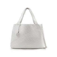 Maxi-bag bianca in eco-pelle intrecciata , Primadonna, 135786118EIBIANUNI, 001 preview