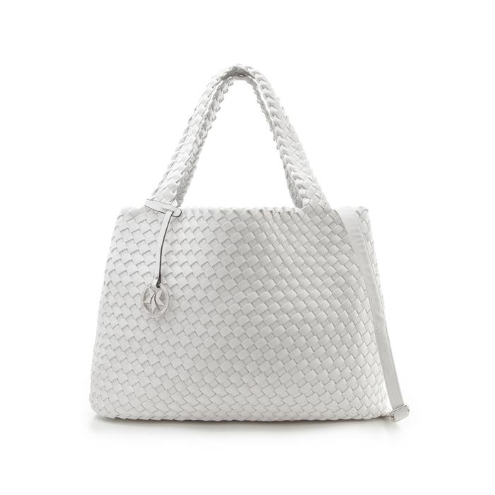 Maxi-bag bianca in eco-pelle intrecciata , Primadonna, 135786118EIBIANUNI