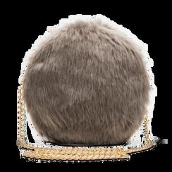 Tracollina grigia in eco-pelliccia, Saldi, 12B412001FUGRIGUNI, 001 preview