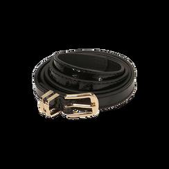 Cintura nera in vernice, Abbigliamento, 144024454VENEROUNI, 001 preview