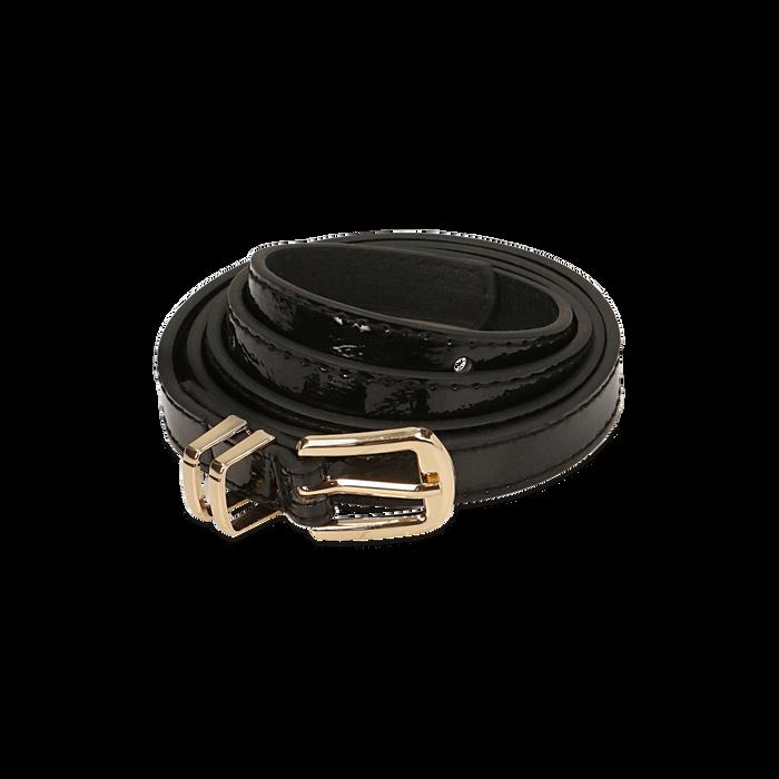 Cintura nera in vernice, Abbigliamento, 144024454VENEROUNI