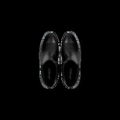 Chelsea Boots neri in vera pelle, tacco quadrato medio 5,5 cm, Primadonna, 127722102PENERO, 004 preview