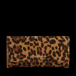Portafogli leopard in microfibra, Borse, 142200002MFLEOPUNI, 001a