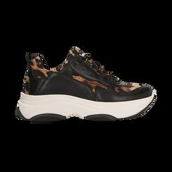 Sneakers dad shoes leopard , Scarpe, 12A718321EPLEOP, 001 preview