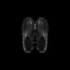 Chelsea Boots neri in vera pelle, tacco medio 5,5 cm, Primadonna, 127723509PENERO, 004 preview