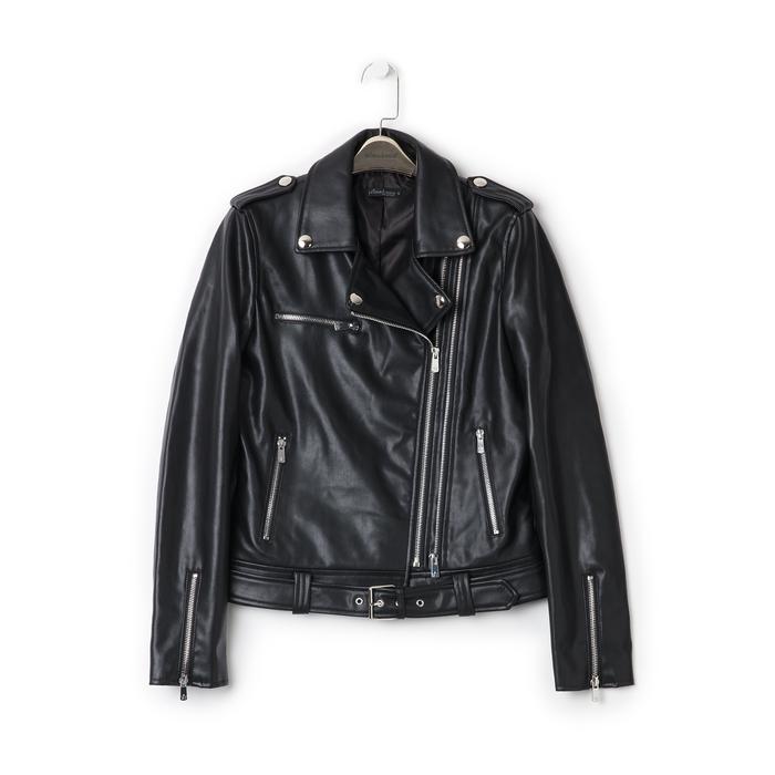 Biker jacket nera in eco-pelle, Primadonna, 136500779EPNEROL