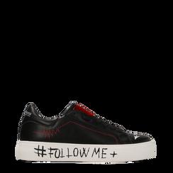 Sneakers nere con suola #followme, Scarpe, 122619062EPNERO038, 001a