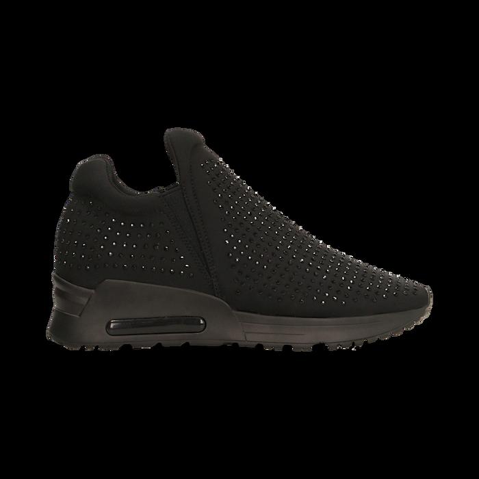 Sneakers total black con cristalli, Scarpe, 122800728LYNERO