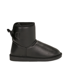 Stivali neri in eco-pelle, Stivaletti, 149916015EPNERO035, 001a