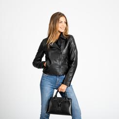 Mini-bag nera in ecopelle, Primadonna, 121818007EPNEROUNI, 008 preview