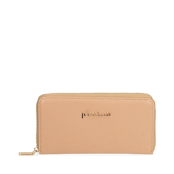Portafogli nude in eco-pelle, Primadonna, 155122519EPNUDEUNI, 001a