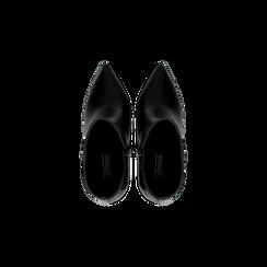 Tronchetti neri, tacco stiletto 10,5 cm, Scarpe, 124895652EPNERO, 004 preview