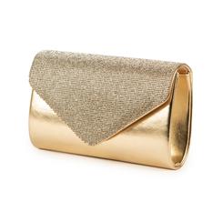 Pochette doré brillante avec des strass, Sacs, 155108562LMOROGUNI, 004 preview
