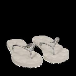 Ciabatte infradito argento in pvc, 15J370785PVARGE035, 002a