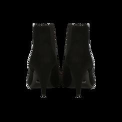 Stivaletti Chelsea neri con tacco medio a cono 8 cm, Primadonna, 124985789MFNERO, 003 preview