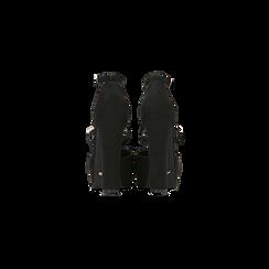 Décolleté nere con plateau e cinturino a T, tacco 13 cm, Scarpe, 124893793MFNERO, 003 preview