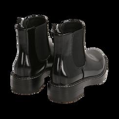Chelsea boots neri abrasivati , Primadonna, 160685073ABNERO037, 004 preview