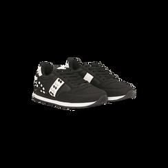 Sneakers nere color block, Scarpe, 122618834MFNERO, 002 preview