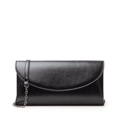 Pochette nera in laminato, Borse, 145122502LMNEROUNI, 001a
