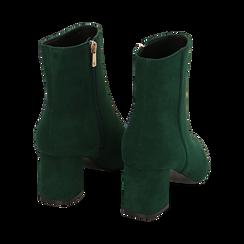 Ankle boots verdi microfibra, tacco 6 cm, Stivaletti, 144916811MFVERD035, 004 preview