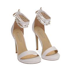 Sandali lace-up bianchi, tacco 11 cm, Primadonna, 172133431EPBIAN036, 002 preview