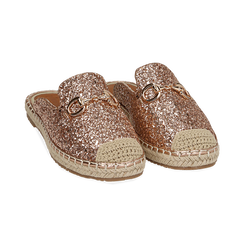 Slippers oro rosa glitter, Chaussures, 154951159GLRAOR036, 002 preview