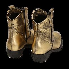 Camperos oro in laminato, Stivaletti, 148900250LMOROG036, 004 preview