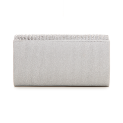 Borsa argento glitter con strass, Borse, 133308821GLARGEUNI, 003 preview