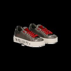 Sneakers canna di fucile con suola #followme, Scarpe, 122619062EPCANN037, 002