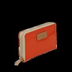 Portafoglio arancio in pvc, Borse, 133732328PVARANUNI, 002a