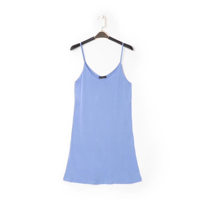 Mini-dress celeste con scollo a V, Primadonna, 13F753052TSCELEM