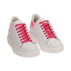 Baskets en cuir blanc/fuchsia, Primadonna, 17L600102PEBIFU035, 002 preview