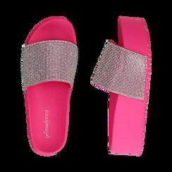 Ciabatte platform fucsia in pvc, suola 5 cm , Zapatos, 154700072PVFUCS039, 003 preview