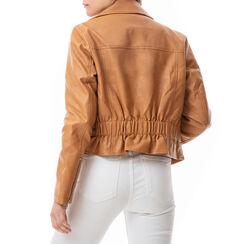 Biker jacket color cuoio , Primadonna, 176520618EPCUOIL, 002a