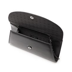 Pochette nera in eco-pelle, Borse, 145122502EPNEROUNI, 004 preview