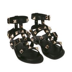Sandales cage noires, Primadonna, 174981022EPNERO037, 002a