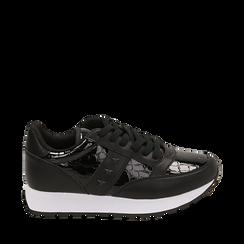Zapatillas en charol color negro, Primadonna, 162619079VENERO036, 001a