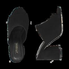 CALZATURA CIABATTE MICROFIBRA NERO, Chaussures, 154998161MFNERO036, 003 preview