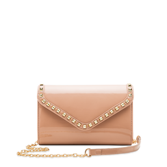 Borsa a tracolla rosa nude in ecopelle vernice, Borse, 123386501VENUDEUNI, 001a