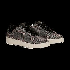 Sneakers Tweed con tacco basso, Primadonna, 122915602TSNEGR036, 002 preview