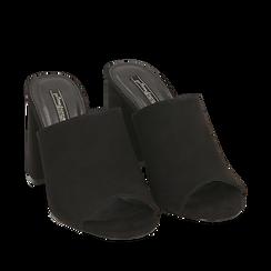 CALZATURA CIABATTE MICROFIBRA NERO, Zapatos, 154998161MFNERO036, 002a