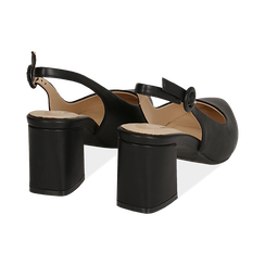Escarpins en simili-cuir noir, talon 6,5 cm , Chaussures, 152123920EPNERO037, 004 preview