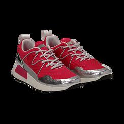 Sneakers fucsia in tessuto tecnico , Scarpe, 132619190TSFUCS037, 002 preview