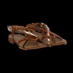 Sandali infradito cuoio in eco-pelle, Primadonna, 13B961532EPCUOI036, 002 preview
