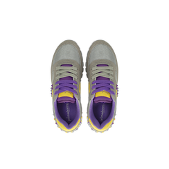 Sneakers grigie color block, Primadonna, 122618834MFGRIG035, 004 preview