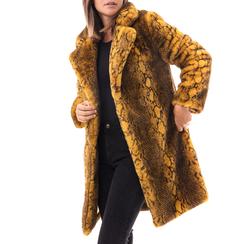 Eco-Pelliccia gialla, Abbigliamento, 14B443001FUGIAL3XL, 001a