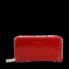 Portafogli rosso in vernice, Borse, 142200896VEROSSUNI, 001a